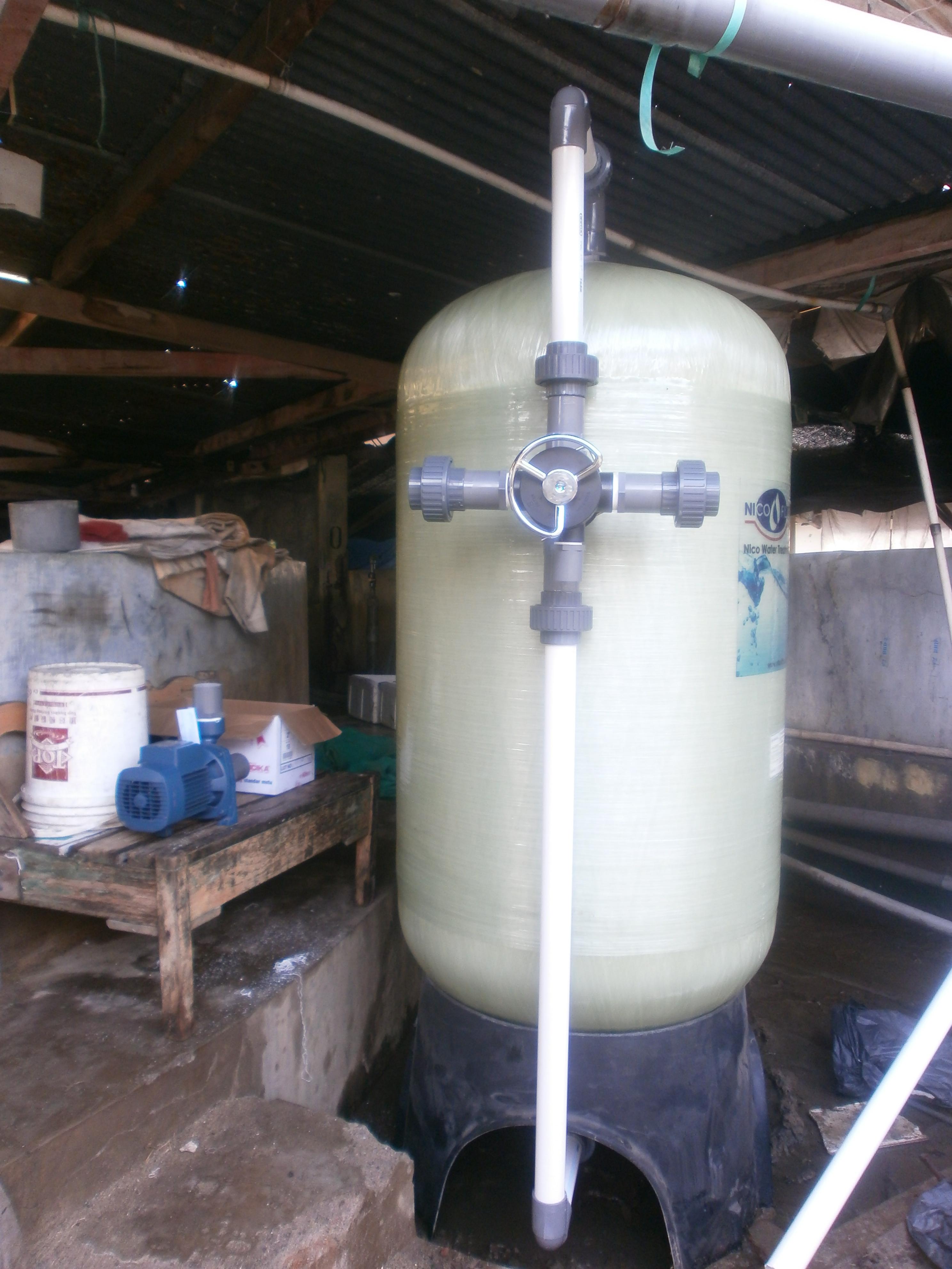 Instalasi Nico Filter di Pabrik Peternakan Udang Sidoarjo